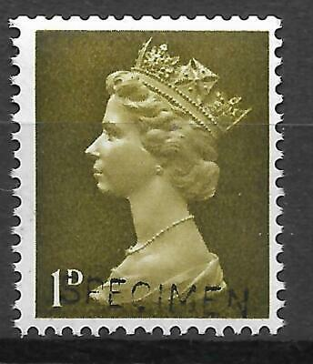 Sg 724s 1d Pre-decimal Machin with 'SPECIMEN' overprint UNMOUNTED MINT