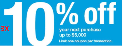 LOOK!!!! THREE (3X) Lowes 10% percent off 3coupon IN STORE ONLY!!! Exp 7days