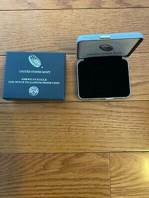 American Eagle 2018-W One Ounce Palladium Reverse Proof Coin  OGP CASE.