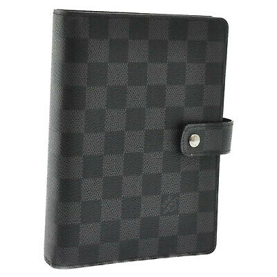 LOUIS VUITTON Damier Graphite Agenda MM Day Planner Cover R20242 10111 **initial