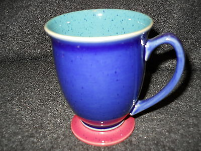Denby Harlequin Blue Green Footed Mug
