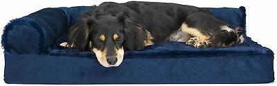 Furhaven Pet Dog Bed | Deluxe Orthopedic Large Plush & Velvet Chaise Lounge