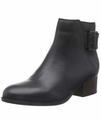 Clarks Elvina Dawn Black Leather ladies ankle boots 3.5//36 D