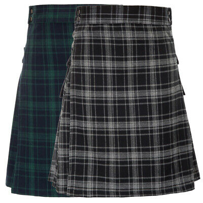 Dress Skirt Scotland TRaditional Checked Plaid Wear Casual Men's Stylish
