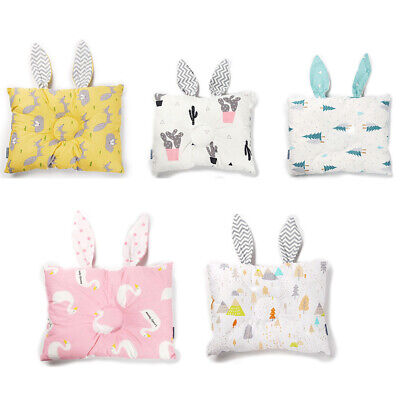 Baby Pillow Cartoon Baby Infant Cot Pillow Syndrome for Newborn Girl Boy UK