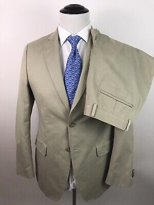 Banana Republic Suit Modern Fit 2 Btn 38R, Pants 31X31 Italian Cotton Khaki