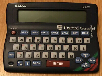 SEIKO ER3700 Oxford Crossword, Anagram Solver, Thesaurus, Spell Checker