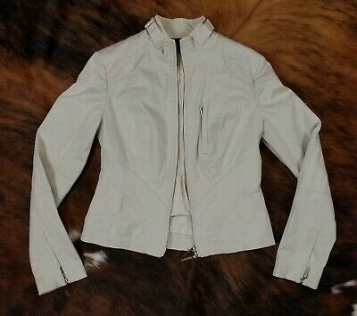The Limited Stretch Size XS Collection Womens Moto Jacket Blazer Khaki Beige EUC