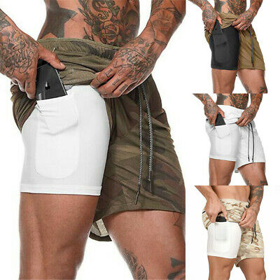 GYM Sports Summer Workout Pants Shorts Fitness Men's Training New Bodybuilding