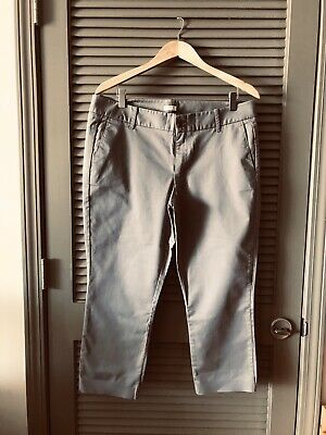 J Crew Frankie Chino Ankle Pants Size 12 Gray Stretch Fit