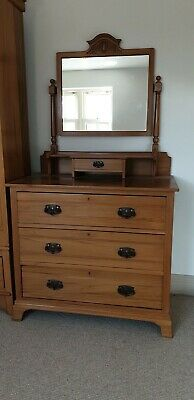 Stripped and waxed Satin Walnut small dressing table (Stripped Pine)