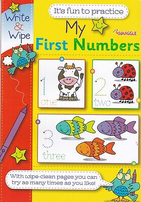 Children's My First 123 Numbers Write And Wipe Fun Practice Book