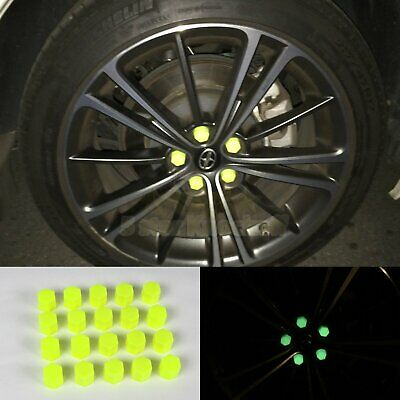 17mm Car Accessories Exterior Wheel Rim Lug Nut Covers Glow in the Dark YELLOW