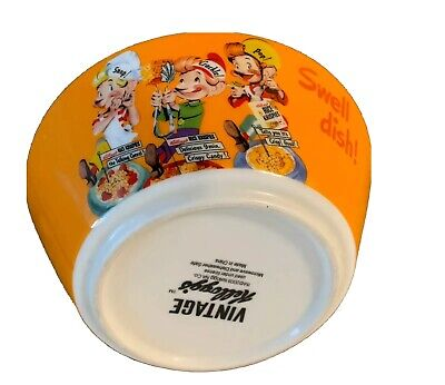 Kellogg's Rice Krispies Snap Crackle Pop Vintage Cereal Bowl 2009 Collectible