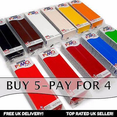 FIMO Soft 350g Polymer Modelling Oven Clay - Moulding clay - Buy 5, Pay for 4