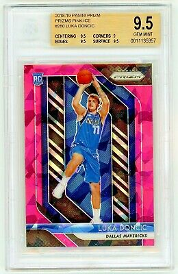 LUKA DONCIC 2018-19 Panini Prizm Pink Ice Rookie Card RC BGS 9.5 Gem Mint #280