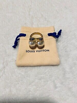 100% Authentic Louis Vuitton Speedy Pearl Ring Small . Sz 5.5