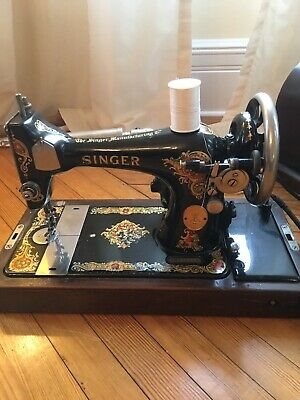 Singer Sewing Machine 1927 Bentwood Case Included. In Working Order!