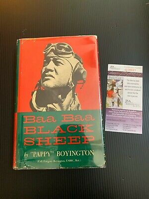 Pappy Gregory Boyington Signed Autographed Book USMC Ace MOH Hero Signature JSA