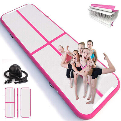 10FT Airtrack Inflatable Air Track Floor Home Gymnastics Tumbling Mat GYM +Pump