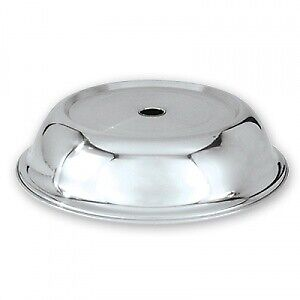 Plate Cover Stainless Steel 240mm Food Serving Dish Dining Restaurant Present