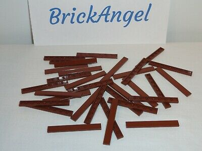 Lego x50 Pieces New Reddish Brown 1x4 Tile Flat Smooth Parts Lot