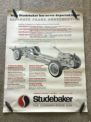 1966  Studebaker  original dealership showroom poster, size 35 by 45 inches.