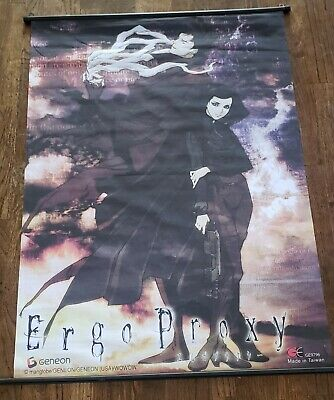 Vintage Ergo Proxy 2006 Wall Scroll Anime Fabric Poster OFFICAL Release GENEON