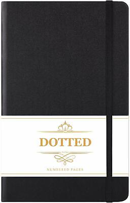 Dotted Journal - Numbered & Index Pages Hard Cover Notebook Thick Paper