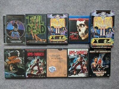 Evil Dead Series 1 2 3 Lot Army Of Darkness Trilogy Horror Blu-Ray DVD Boomstick