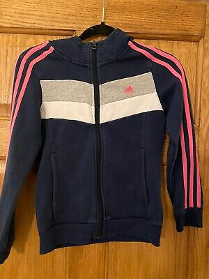 Girls Age 9-10 Adidas Track Suit Navy