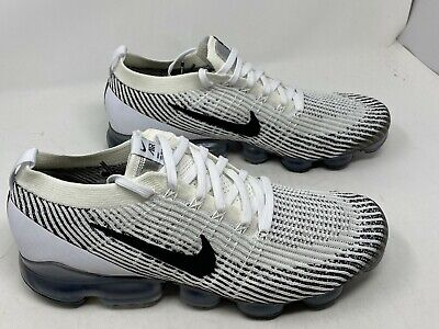 Nike Air Vapormax Flyknit 3 White Black   AJ6900-105 Men's Size 14 NOBOXLID