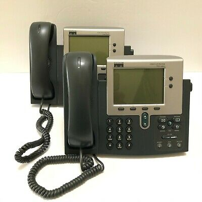Lot 2 Cisco IP Phone 7940 Series CP-7940G w/ Handset & Stand VoIP Office Phone