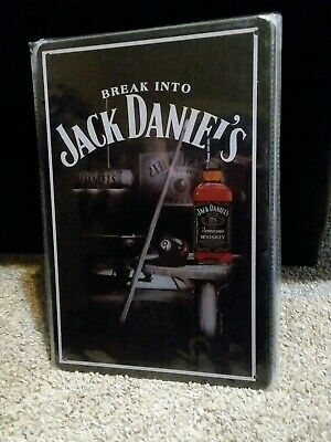 Jack Daniels ROUND LICENSED TIN SIGN REPRODUCTION Bar whiskey wall decor 1312