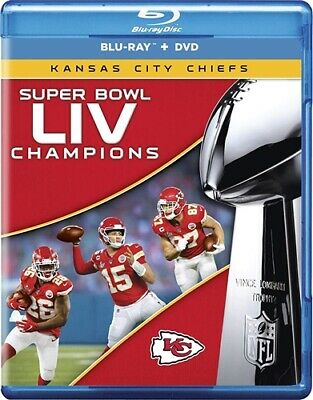 SUPER BOWL LIV 54 CHAMPIONS KANSAS CITY CHIEFS New Sealed Blu-ray + DVD