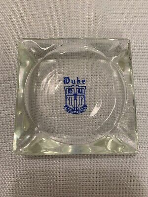 Duke University Glass Ashtray - NCAA ACC College Blue Devils