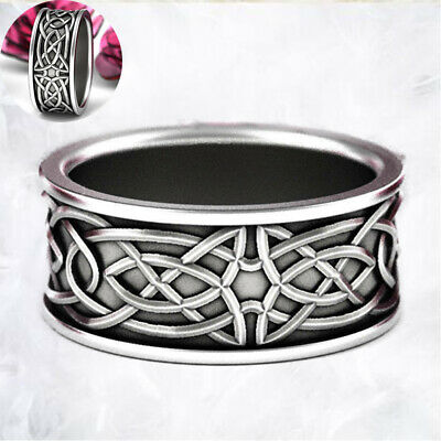 Wedding Ring Celtic Band Vintage Jewelry Women's Engagement Men Knot