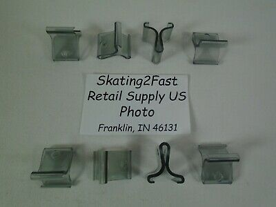 Hinged Ceiling Grid Clip Clear Track Plastic Snap Hook Clip Retail Store Supply