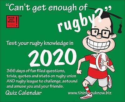 Can't Get Enough Of Rugby? Desk Calendar 2020