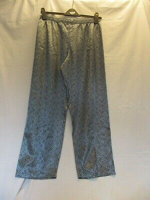 New no tags on size 8-10 Per  Una pyjama bottoms only, sily polyester navy/white