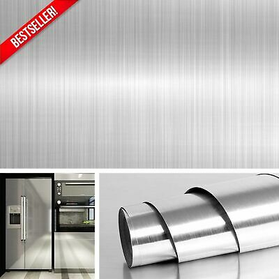 Stainless Steel Silver Contact Paper Vinyl Self Adhesive Film Kitchen Countertop