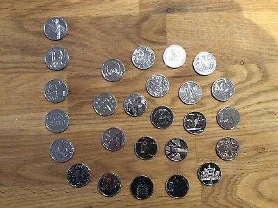 Individual And Full Set Of  Rare Uk Royal Mint 2018 A-Z Alphabet 10P Coins