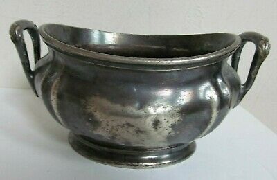 """Reed & Barton Silver soldered handled 7"""" bowl curved lid  Park Avenue Hotel"""