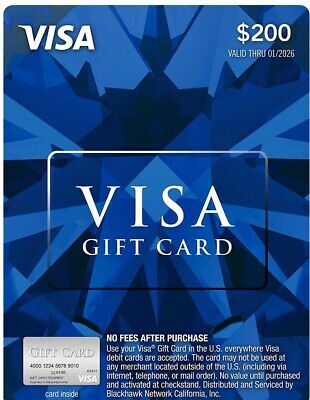 $200 Gift Card Activated, USE ANYWHERE in US, No Fee, No Expiration