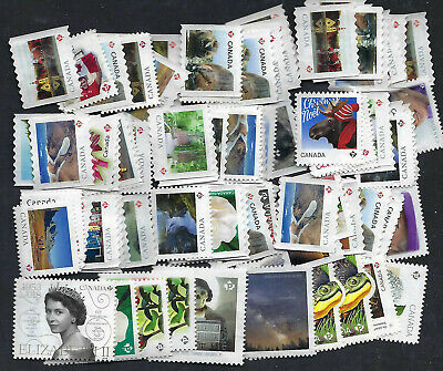 $92 Face Value (100 x P Stamps ) UNCANCELLED POSTAGE - OFF PAPER - NO GUM.