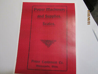 1910s PECO Power Equipment Co. Gas Engine Section Catalog Excerpt Foos, White