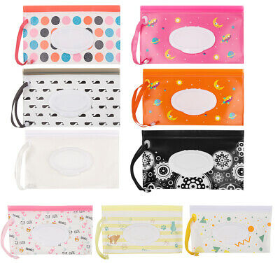 Polyester Plastic Baby Wet Wipes Pouch Wipes Holder Case Reusable Wipes Bag