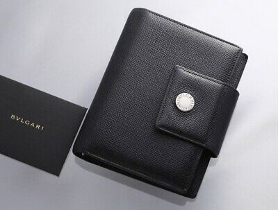 H7987M Authentic BVLGARI Classico Genuine Leather Agenda Notebook Cover