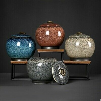Medium-Size Funeral Urn By Midsize Cremation Urns for Human Ashes Ceramics Urns