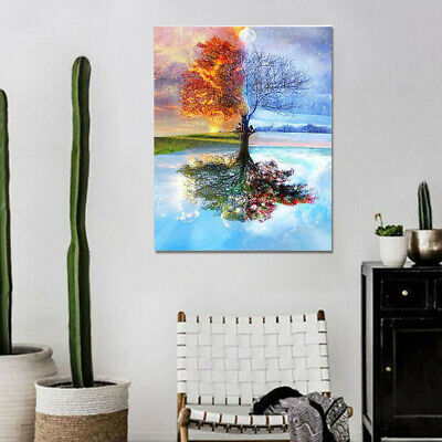 Scenery Oil Painting DIY Paint By Numbers Acrylic Drawing On Canvas Home #C5X